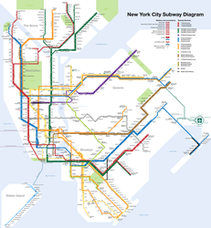 New York Subway Map by qweqwe321