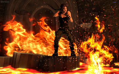 Tomb Raider: The Lava Room by BMFreed