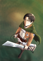 Levi Ackerman by Bukarodraws