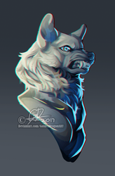 wolf painting WIP by GoldenDragonART