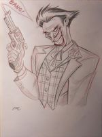 Joker Pencil Sketch by em-scribbles