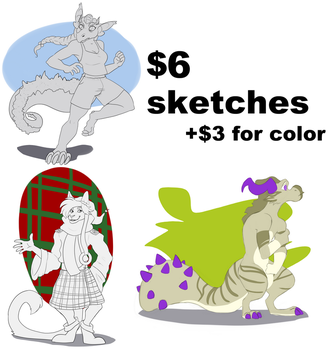 $6 Sketches Open by RaveM0nster