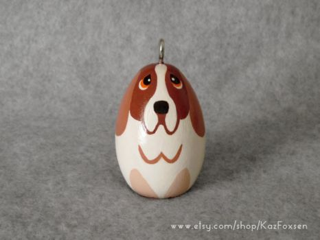 Custom Basset Hound Ornament or Figurine by KazFoxsen