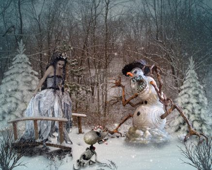 Mistress Winter and Company by PaintedOnMySoul