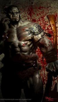Huge Orc by Ilacha