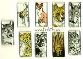 Sumi Glass Pendants - Group 4 by Foxfeather248