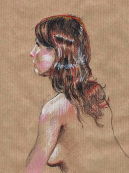 Life Drawing Portrait - Mimi by Naughty-UK