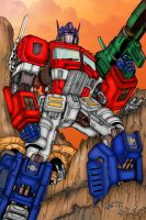 Optimus Prime by ButIStillw8ting