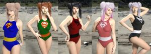 Iray Super mats for Amy Aimei sporty swimsuit G8F by gincognifo
