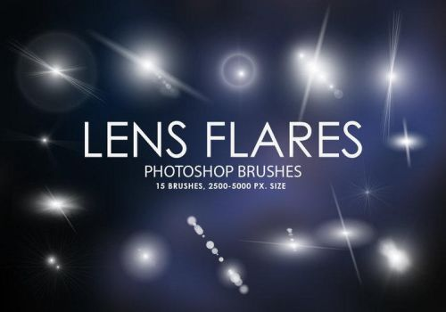 Free Lens Flares Photoshop Brushes Free Lens Flare by justin9090bqc