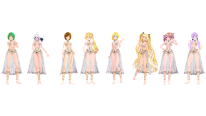 MMD Model Pack: TDA Showstopper Models by K-Manoc1