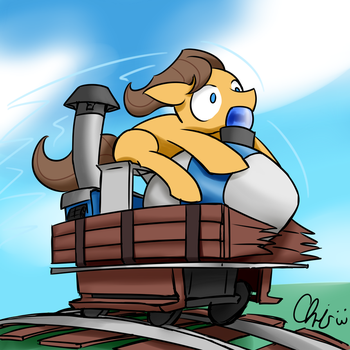 Caramel riding on a payload bomb request by NekoCrispy