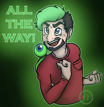 ALL THE WAY (with jackscepticeye speeddraw) by Desteny-Love