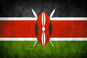 Kenya Grunge Flag by think0
