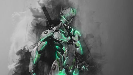 Genji - Overwatch Wallpaper by RaycoreTheCrawler