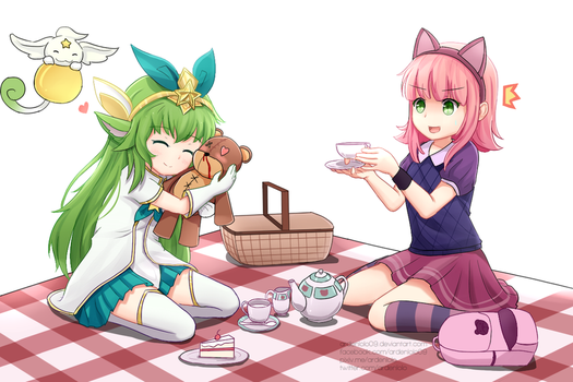 Tibbers' tea party by ardenlolo09