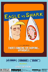 Eagle vs Shark by plasticgiantcatbear