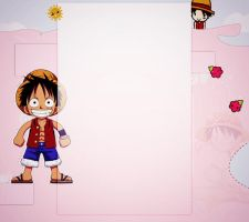 Monkey D. Luffy Free YoutubeBackground by demeters