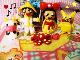 Fun with sculpey clay by justinee