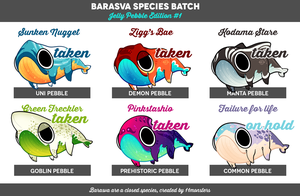 [ADPT] Barasva Batch: Jelly Pebble edition - SOLD by KngCorvidae