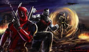 Deadpool team up Xmen by Quan-Xstyle