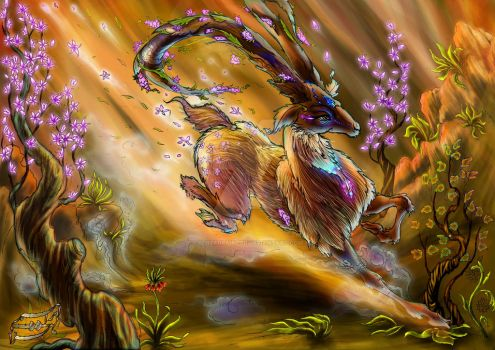 spring God's Fiery steps by behzadpainter