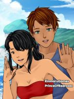 At the Beach: Kevin and Lucy by TheEyeShield