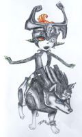 Wolf Link and Midna - Request by baberscamille