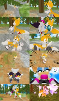 [MMD] (comic) Tails trades an emerald by Jasalad