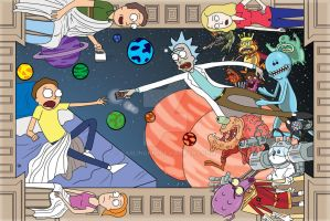 Rick and Morty: Sistine Chapel by darlinginc