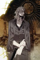 Gangsta Anime Worick Arcangelo Art by corphish2