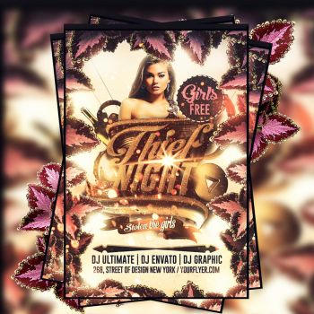 Thief night flyer template by ultimateboss