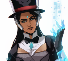 Magician Symmetra [Overwatch] by darwh