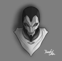 HEAD-SERIES: Jhin Fan Art by desmondchen