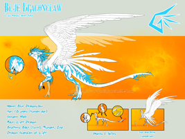 -NewRefSheet- Blue Dragonclaw by Shadow-of-Destiny