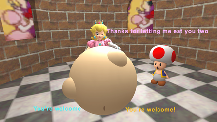 Peach's Friendly Vore Belly (Gmod vore) by lucasbasher649