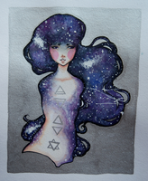 Galaxy queen by Rowie-Ann
