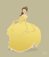 Beauty and the beast, Belle by SofiBS