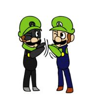 Luigi and Mr. L Animation by mariogamesandenemies