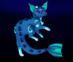 Elemental Cat .:. Water .:. by Dragonqueen316AJ