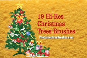 19 Christmas Tree PS Brushes by fiftyfivepixels