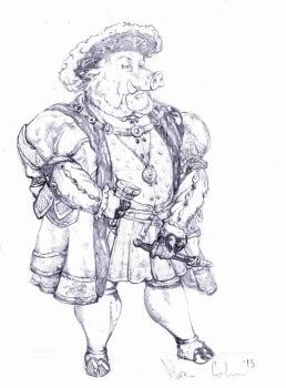 Henry VIII The Boar by MarcoCalosci