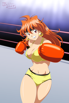 Lina Inverse Knocks You Out by ButcherStudios by WaifuWars