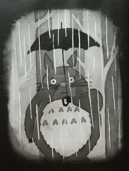 Totoro | Ink Illustration by Egregiousness