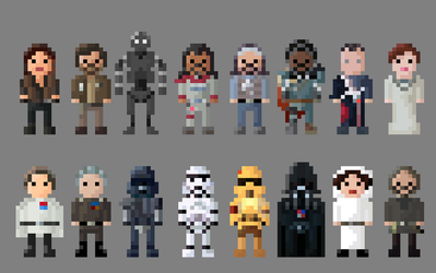 Star Wars: Rogue One Characters 8 Bit by LustriousCharming