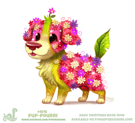Daily Paint 1866# Pup-Pourri by Cryptid-Creations