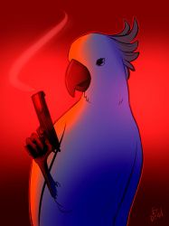 Cockatoo with a pistol by ErDead
