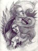 Katniss and Peeta by ArtJayTi