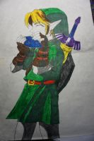Old Drawing: Link (Ocarina of Time) by FallenAngelOfCrimson