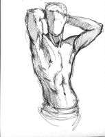 Male nude scetch #2 by leasel